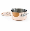 Mauviel M150S Cast Stainless Handled stewpan 24 cm Covered
