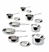 Mauviel MCook Cast Stainless Handled 14 Piece Set