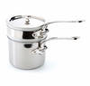 Mauviel Mcook Cast Stainless Handled bain Marie 14 cm Covered