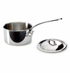 Mauviel Mcook Cast Stainless Handled saucepan 12 cm Covered