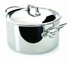 Mauviel Mcook Cast Stainless Handled stewpan 18 cm Covered