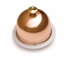 Mauviel Mtradition porcelain butter dish with copper