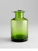 Medium Apothecary Green Glass Vase by Cyan Design