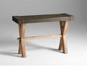 Mesa Iron and Wood Console Table by Cyan Design