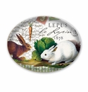 Michel Design Works Bunnies Glass Soap Dish