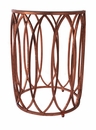 Mirror Top Ovals End Table Home Decor