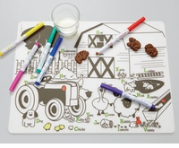 Modern Twist Farm Buddies Placemat & Markers Kids Box