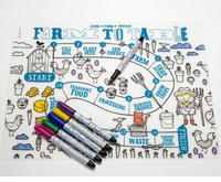 Modern Twist Farm To Table Placemat & Markers Kids Box Set