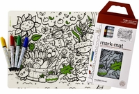 Modern Twist Garden Play Mark Mat & Markers Set