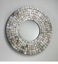 Mosaic Capiz Shell Wall Mirror by Cyan Design