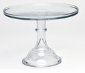 "Mosser Glass 12"" Footed Cake Plate - Crystal"