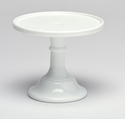 "Mosser Glass 12"" Footed Cake Plate - Milk"