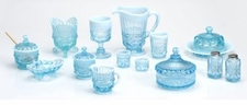 Mosser Glass Aqua Opal & Bonnie Blue Glassware