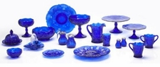 Mosser Glass Cobalt Blue Glassware