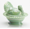 Mosser Glass Covered Turkey - Jade Carnival