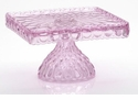 Mosser Glass Elizabeth Footed Cake Plate - Passion Pink