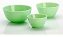 Mosser Glass Jadeite Glass Mixing Bowls (3)