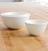Mosser Glass Milk Glass Mixing Bowls