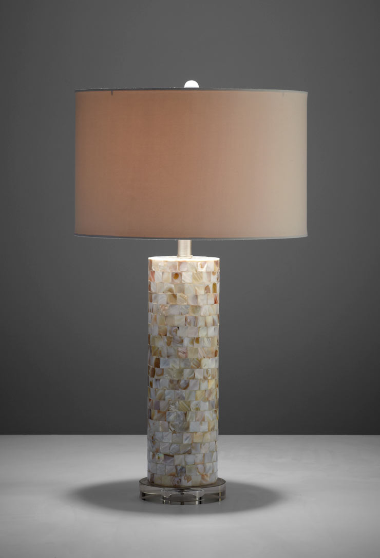 mother of pearl table lamp by cyan design. Black Bedroom Furniture Sets. Home Design Ideas