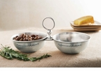 Mud Pie Pewter 2 Section Server