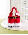 Mud Pie Santa Double Bottle Bag