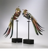 Multicolored Iron Birds Set (2) by Cyan Design