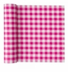 MyDrap Gingham Placemat - 12 /roll - Fuchsia Gingham
