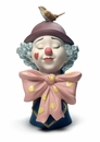 Nao by Lladro Porcelain A Clown's Friend Figurine