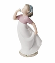 "Nao by Lladro Porcelain ""A delicate scent"" Figurine"