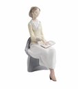 "Nao by Lladro Porcelain ""A lesson in learning"" Figurine"