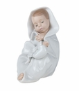 "Nao by Lladro Porcelain ""All bundled up"" Figurine"
