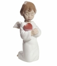 "Nao by Lladro Porcelain ""Angelic love"" Figurine"
