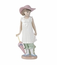 "Nao by Lladro Porcelain ""April showers"" Figurine"