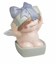 "Nao by Lladro Porcelain ""Box full of wishes"" Figurine"