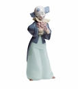 "Nao by Lladro Porcelain ""Courteous clown"" Figurine"
