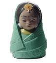 Nao by Lladro Porcelain Dolls Of The World Figurine - India