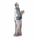 Nao by Lladro Porcelain Don Quixote Reading Figurine