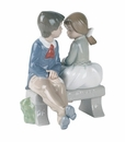 "Nao by Lladro Porcelain ""First love"" Figurine"
