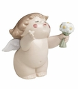 "Nao by Lladro Porcelain ""Flowers for you"" Figurine"