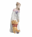 "Nao by Lladro Porcelain ""Fun with Winnie the Pooh"" Figurine"