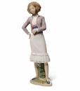 "Nao by Lladro Porcelain ""Going to learn"" Figurine"