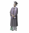 "Nao by Lladro Porcelain ""Graduation Celebration (Treasured Memories)"" African American Boy Graduate Figurine"
