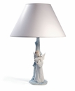 Nao by Lladro Porcelain Guardian Angel Lamp (Shade not Included)