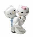 "Nao by Lladro Porcelain ""Hello Kitty gets married!"" Figurine"