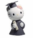 Nao by Lladro Porcelain Hello Kitty Graduation Day Figurine