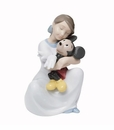 "Nao by Lladro Porcelain ""I love you, Mickey"" Figurine"