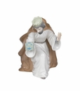 """Nao by Lladro Porcelain """"King Melchior with chest"""" Figurine"""