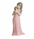 """Nao by Lladro Porcelain """"Kitty cuddles"""" Figurine"""