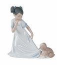 """Nao by Lladro Porcelain """"Let me go!"""" Figurine"""