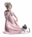 Nao by Lladro Porcelain Let Me Go! (Special Edition) Figurine